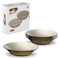 """Набор тарелок PASABAHCE """"Invitation bronze"""", 220 мм (упаковка 2 набора)"""