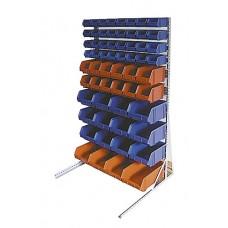 Настенный стеллаж для складских лотков, 35х900х1508 мм