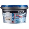Затирка цементная Ceresit СЕ 40 водоотталкивающая 2 кг цвет натура