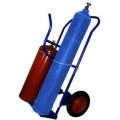 Тележка для перевозки двух баллонов (кислород, пропан)