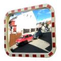 Зеркало уличное, дорожное, со световозвращателями 400x600 мм