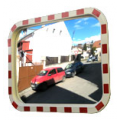 Зеркало уличное, дорожное, со световозвращателями 800x1000 мм