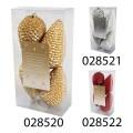 Набор елочных украшений ШИШКИ, пластиковые, 12 х 7 см (уп. 4 шт.), цвета в ассортименте
