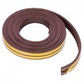Уплотнитель для окон коричневый Е-профиль, 9х4 мм х 6 м
