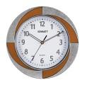 Часы настенные SCARLETT SC-55RA круг, белые, бело-коричневая рамка