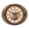 Часы настенные SCARLETT SC-25I овал, бежевые с рисунком