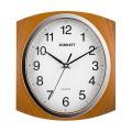 Часы настенные SCARLETT SC-55RB квадрат, белые, коричневая рамка