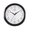 Часы настенные SCARLETT SC-45Q круг, белые с рисунком, черная рамка