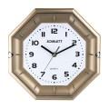 Часы настенные SCARLETT SC-55QZ восьмигранник, белые, золотистая рамка