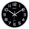 Часы настенные SCARLETT SC-WC1001O круглые, черные, серебристая рамка