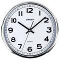 Часы настенные SCARLETT SC-WC1002O круглые, белые, серебристая рамка