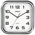 Часы настенные SCARLETT SC-WC1003O квадратные, белые, серебристая рамка