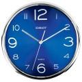 Часы настенные SCARLETT SC-WC1012O круглые, синие, серебристая рамка