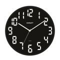 Часы настенные SCARLETT SC-55BL, круглые, черные, черная рамка